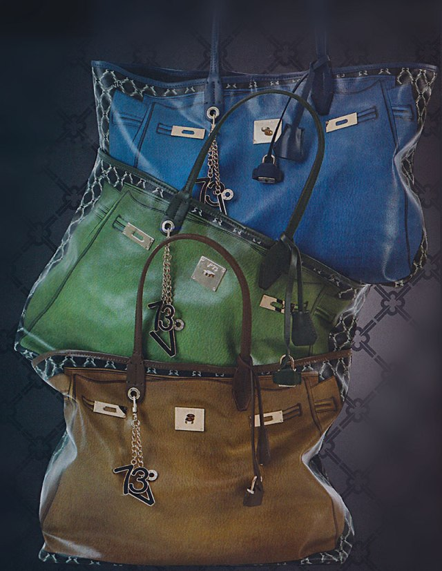 Bolsas grandes coloridas