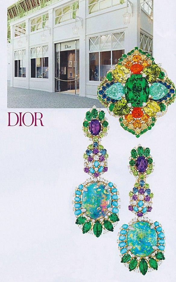Brincos Dior Coloridos